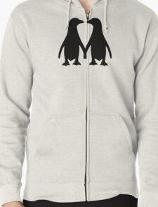 Penguin couple love Zipped Hoodie