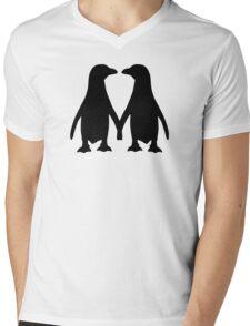 Penguin couple love Mens V-Neck T-Shirt