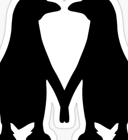 Penguin couple love Sticker