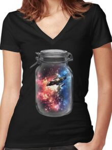 Found in Space Women's Fitted V-Neck T-Shirt