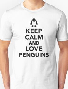 Keep calm and love penguins Unisex T-Shirt