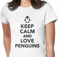 Keep calm and love penguins Womens Fitted T-Shirt