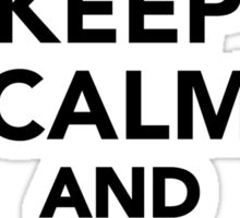 Keep calm and love penguins Sticker