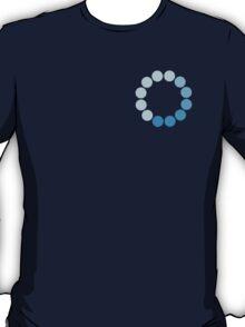 Comic Con Spinning Blue Circle T-Shirt