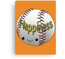 Happiness - Baseball Canvas Print