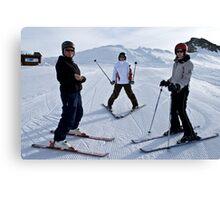 starting skiing  Canvas Print