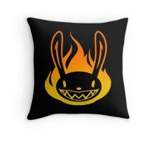 Pyro Rabbit Throw Pillow