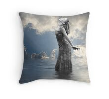 She Talks To Angels Throw Pillow