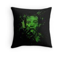 Splatter Venkman Throw Pillow