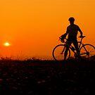 sunset bicycle by Etienne RUGGERI Artwork