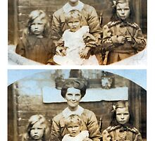 1914 Emliy Godfrey and daughters (photo) by Woodie