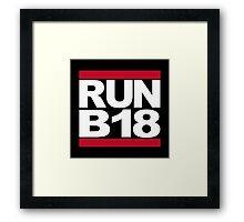 RUN B18 Framed Print