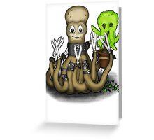 Eduardo Scissor Tentacles Greeting Card