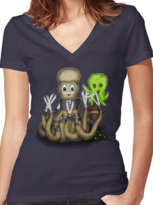 Eduardo Scissor Tentacles Women's Fitted V-Neck T-Shirt