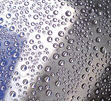 water drops on plastic cover by mishmurok