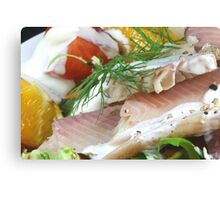 Fresh With Fish Canvas Print