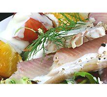 Fresh With Fish Photographic Print