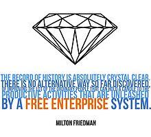 Milton Friedman Libertarian Capitalism Freedom Liberty by psmgop