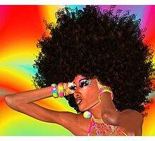 Disco Queen with Retro Afro Hairstyle! Photographic Print