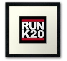RUN K20 Framed Print