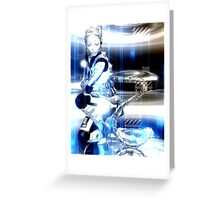 Sci Fi Robot Girl, Futuristic Beauty! Greeting Card