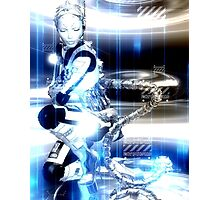 Sci Fi Robot Girl, Futuristic Beauty! Photographic Print