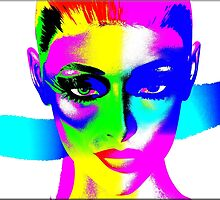 Colorful pop art image of a woman's face. by TK0920
