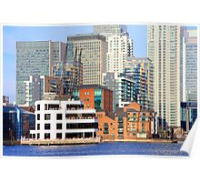 Canary Wharf from Millwall Docks Poster