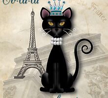 Oo-la-la, the French Princess Kitty by Carol Vega