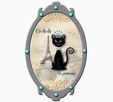Oo-la-la, the French Princess Kitty Unisex T-Shirt