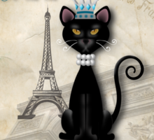 Oo-la-la, the French Princess Kitty Sticker