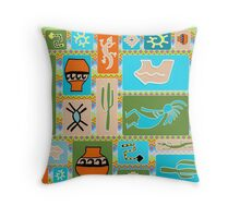 Southwestern Panel - Bright Throw Pillow
