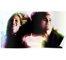 The Vampire Diaries - Stefan And Caroline Poster
