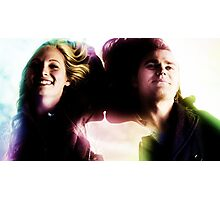 The Vampire Diaries - Stefan And Caroline Photographic Print