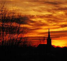 Doesburg St. Martin´s church after sunset by jchanders