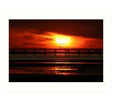 Sunset over Southend Pier Art Print