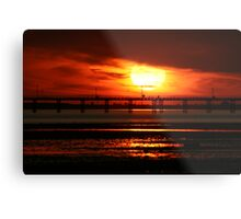 Sunset over Southend Pier Metal Print