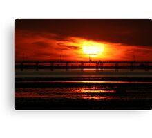 Sunset over Southend Pier Canvas Print