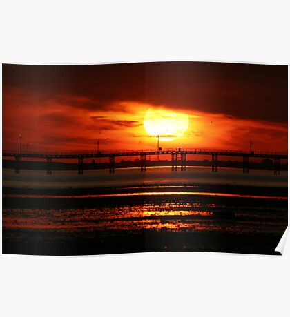 Sunset over Southend Pier Poster