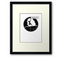 Yippee Ki Yay - with speech bubble Framed Print