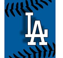 LA Dodgers iPhone/iPod Case by Rxedel