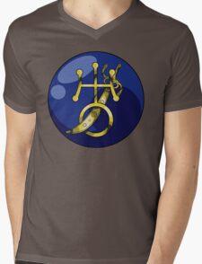 Uranus Crystal Power Mens V-Neck T-Shirt