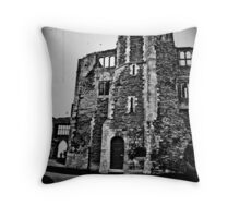 Newark Castle Grounds Throw Pillow