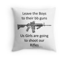 bb guns b Throw Pillow