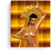 Fabulous Belly Dancer, Asian or Middle Eastern Fantasy. Canvas Print
