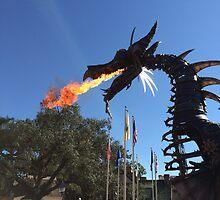 Festival of Fantasy Fire-Breathing Maleficent  by flight1401