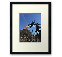 Festival of Fantasy Fire-Breathing Maleficent  Framed Print
