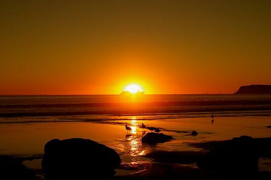 California Sunset, San Diego - 2009 by Stephen Laycock