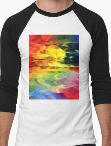 Rainbow Sunset Men's Baseball ¾ T-Shirt