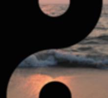 Sunset Yin Yang Sticker